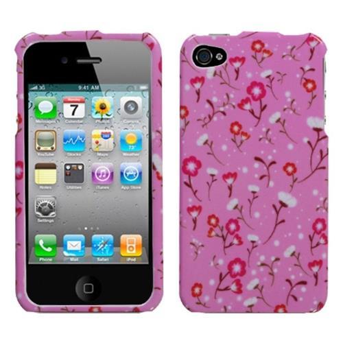 Insten Starburst Flower Hard Cover Case For Apple iPhone 4/4S, Pink