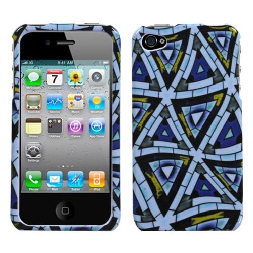 Insten Triangular Mosaic Hard Cover Case For Apple iPhone 4/4S