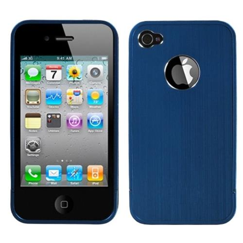 Insten Aluminum Metallic Case For Apple iPhone 4/4S, Blue
