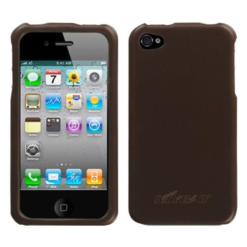 Insten Hard Rubber Coated Cover Case For Apple iPhone 4/4S, Brown