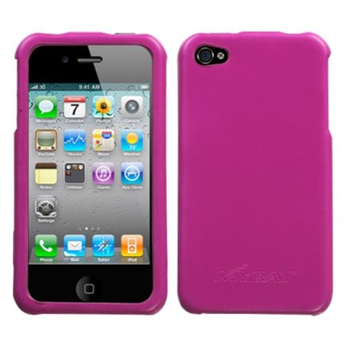 Insten Hard Rubberized Cover Case For Apple iPhone 4/4S, Hot Pink