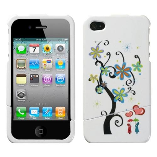 Insten Lover's Tree Hard Case For Apple iPhone 4/4S, White/Other