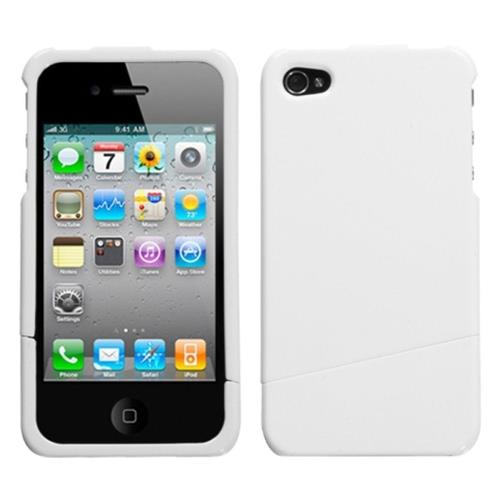 Insten Hard Clear Crystal Cover Case For Apple iPhone 4/4S, White