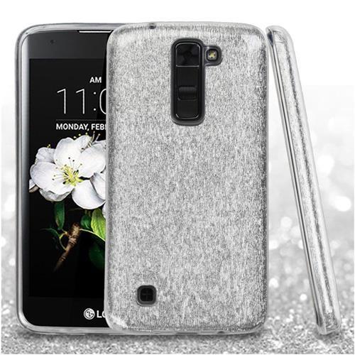 Insten Hard Dual Layer Glitter TPU Cover Case For LG Escape 3/K7/Treasure LTE, Silver