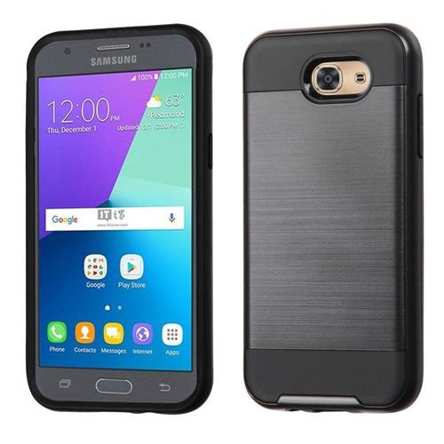 Insten Hard Hybrid TPU Case For Samsung Galaxy J3(2017), Black