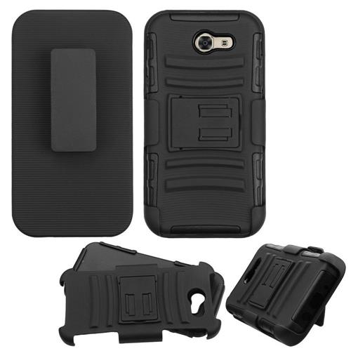 Insten Holster Case for Samsung Galaxy J3 - Black