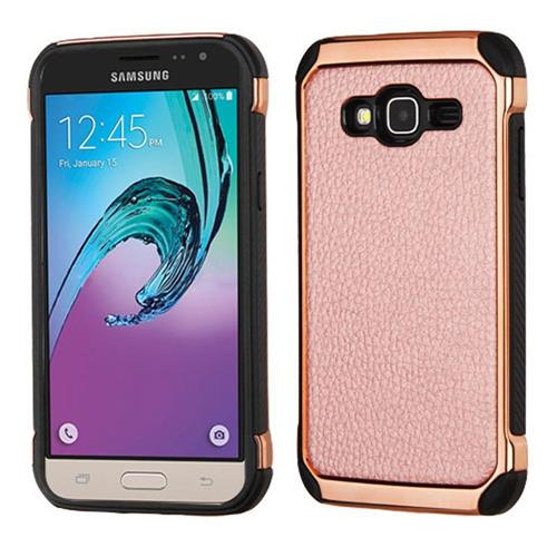Insten Hard TPU Case For Samsung Galaxy Amp Prime/Express Prime /J3(2016)/Sol, Rose Gold/Black