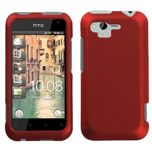 Insten Hard Rubberized Case For HTC Rhyme / Bliss, Red