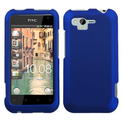 Insten Hard Rubberized Case For HTC Rhyme / Bliss, Blue