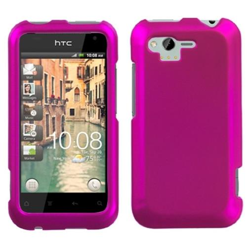 Insten Hard Rubber Coated Case For HTC Rhyme / Bliss, Hot Pink