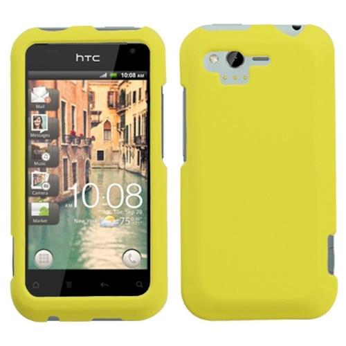 Insten Hard Rubber Cover Case For HTC Rhyme / Bliss, Yellow