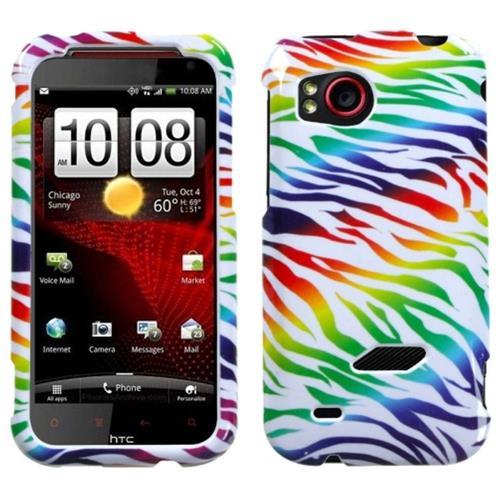 Insten Zebra Hard Case For HTC Rezound / Vigor, Colorful/Black