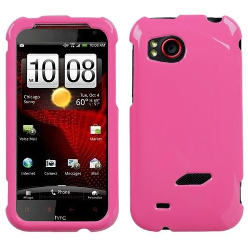Insten Hard Rubber Coated Case For HTC Rezound / Vigor, Pink