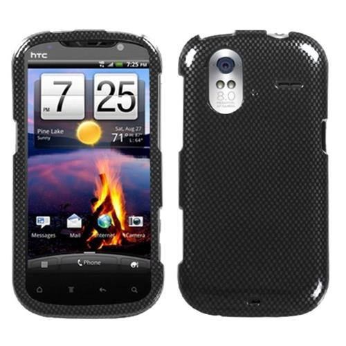 Insten Carbon Fiber Hard Case For HTC Amaze 4G, Black