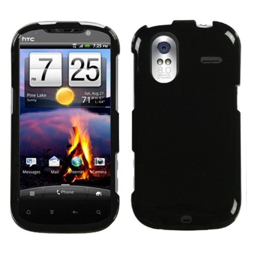 Insten Hard Rubber Cover Case For HTC Amaze 4G, Black