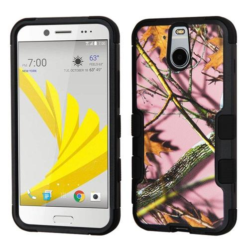 Insten Tuff Oak-Hunting Hard Dual Layer Rubberized Silicone Case For HTC Bolt, Pink/Black