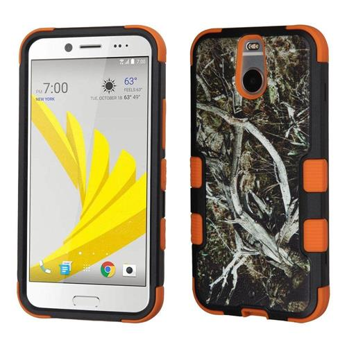 Insten Tuff Vines Hard Dual Layer Rubber Silicone Case For HTC Bolt, Yellow/Black