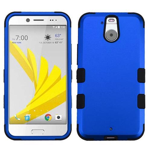 Insten Tuff Hard Hybrid Rubber Coated Silicone Case For HTC Bolt, Blue/Black