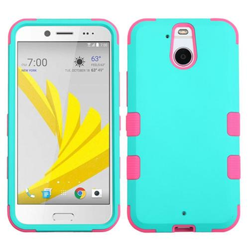 Insten Tuff Hard Hybrid Silicone Case For HTC Bolt, Teal/Pink