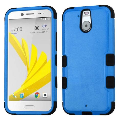 Insten Hard Hybrid Rubber Coated Silicone Case For HTC Bolt, Blue/Black