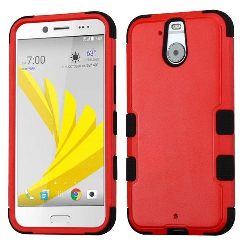 Insten Hard Dual Layer Silicone Case For HTC Bolt, Red/Black