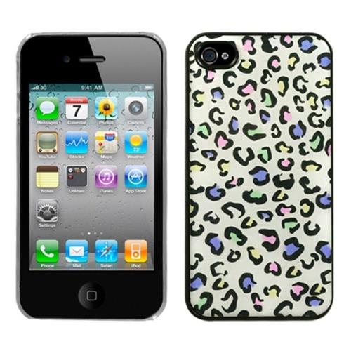Insten Leopard Hard Cover Case For Apple iPhone 4/4S, Colorful/Clear