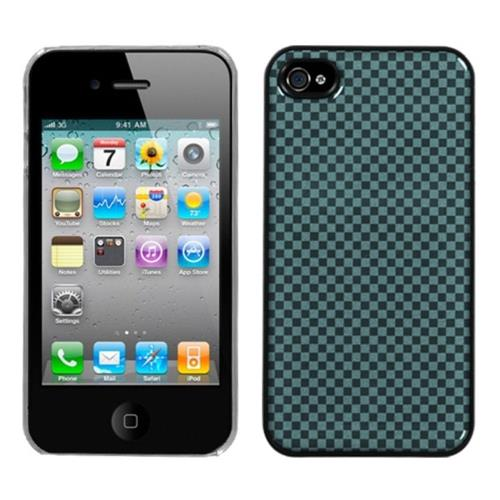 Insten Fitted Hard Shell Case for iPhone 4 / 4S - Blue/Clear