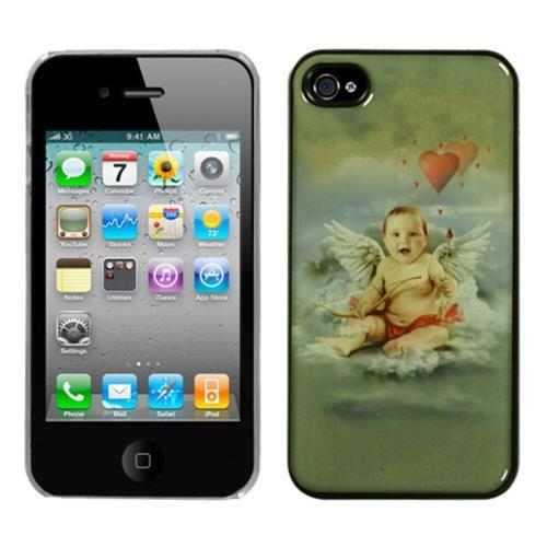 Insten Cupid Hard Cover Case For Apple iPhone 4/4S /Clear