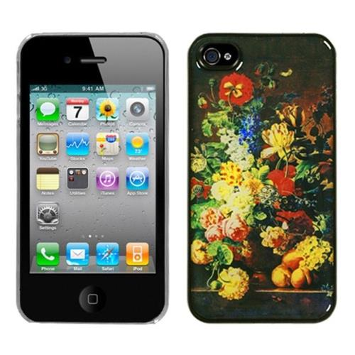 Insten Blossom Flowers Hard Cover Case For Apple iPhone 4/4S /Clear