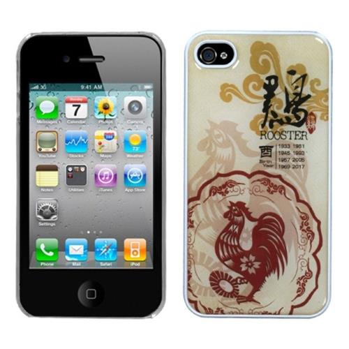 Insten Chicken-Chinese Zodiac Hard Case For Apple iPhone 4/4S /Clear