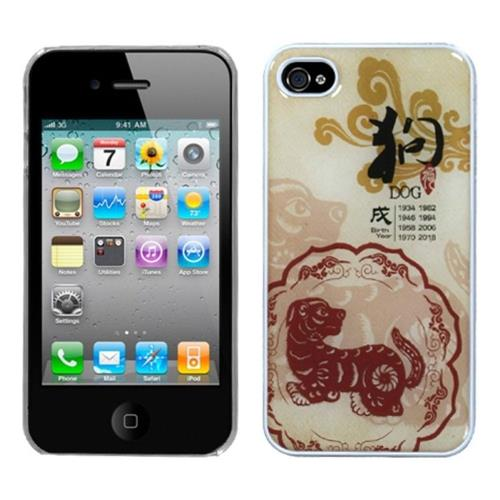 Insten Fitted Hard Shell Case for iPhone 4 / 4S - Mixed Color/Clear