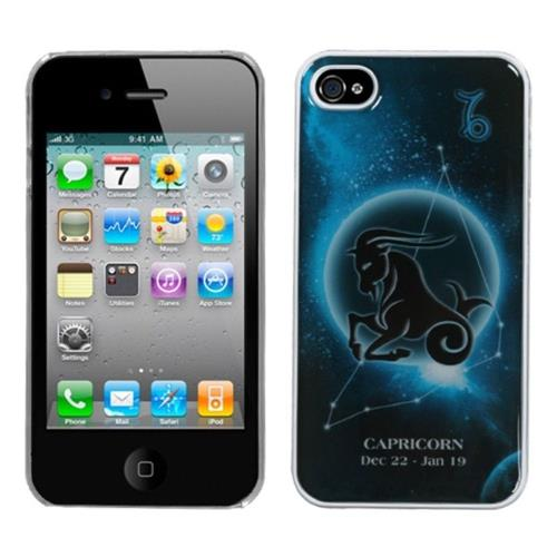 Insten Fitted Hard Shell Case for iPhone 4 / 4S - Black/Blue
