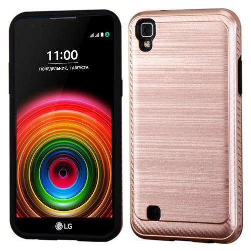 Insten Hard Hybrid TPU Case For LG K6/X Power, Rose Gold/Black