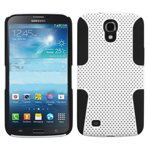 """Insten Astronoot Mesh Hard Rubber Silicone Case For Samsung Galaxy Mega 6.3"""" GT-I9200, White/Black"""