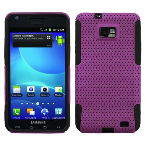 Insten Fitted Soft Shell Case for Samsung Galaxy S2 Attain - Purple/Black