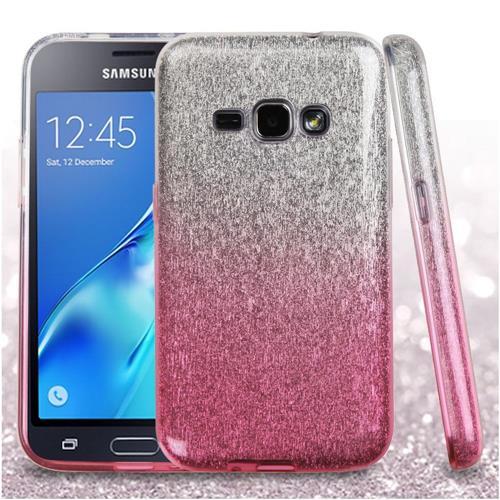 Insten Hard Dual Layer Glitter TPU Case For Samsung Galaxy Amp 2/Express 3/J1(2016), Pink
