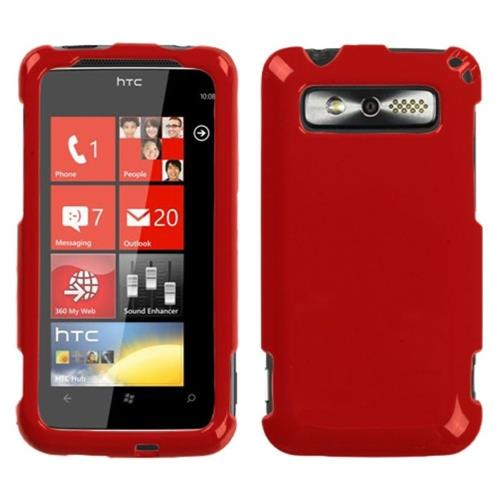 Insten Hard Cover Case For HTC 7 Trophy 6985, Red
