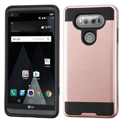 Insten Hard Hybrid TPU Cover Case For LG V20, Rose Gold/Black