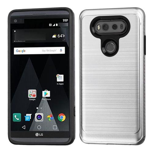Insten Fitted Soft Shell Case for LG V20 - Silver/Black