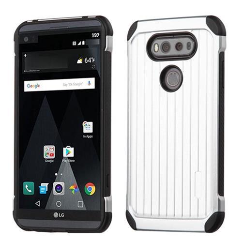 Insten Fitted Soft Shell Case for LG V20 - Silver/Black