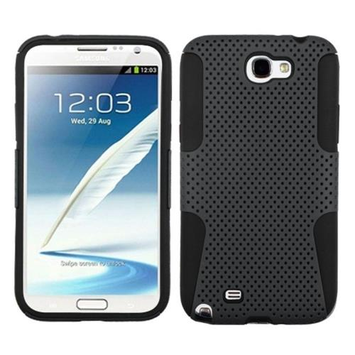 Insten Astronoot Mesh Hard Dual Layer Silicone Case For Samsung Galaxy Note II, Gray/Black