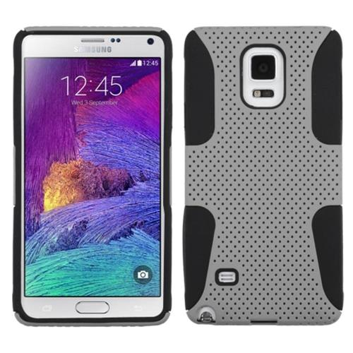 Insten Astronoot Hard Hybrid Silicone Cover Case For Samsung Galaxy Note 4, Gray/Black