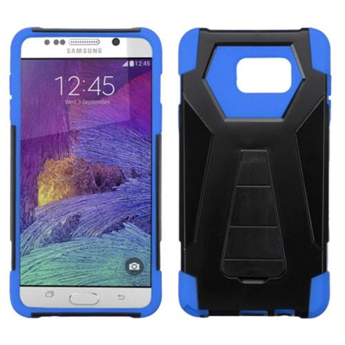Insten Hard Hybrid Plastic Silicone Cover Case w/stand For Samsung Galaxy Note 5, Black/Blue