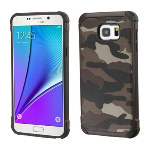 Insten Camouflage Hard Hybrid Silicone Cover Case For Samsung Galaxy Note 5, Gray/Black