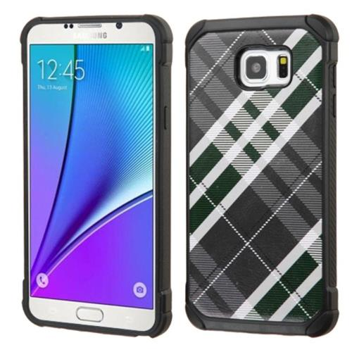 Insten Fitted Soft Shell Case for Samsung Galaxy Note 5 - Gray/White