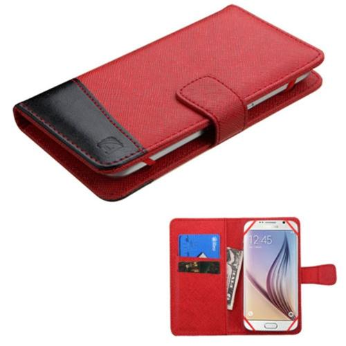 Insten Book-Style Case For iPhone 6/6s, ASUS Zenfone 2E, Samsung Galaxy J3(2016)/S6 Edge/S7, Black
