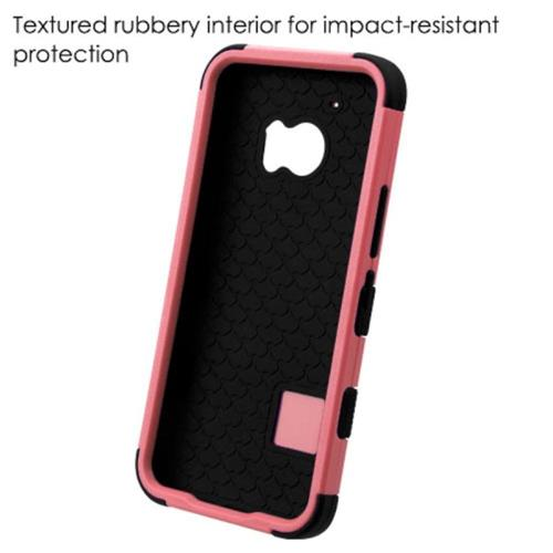 Insten Tuff Hard Dual Layer Silicone Case For HTC One M10, Pink/Black