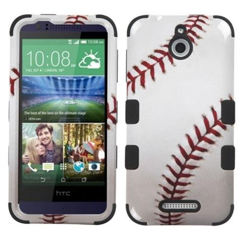 Insten Baseball Hard Hybrid Rubber Silicone Cover Case For HTC Desire 510, Red/White