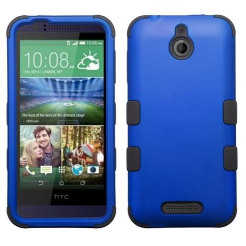 Insten Hard Hybrid Silicone Case For HTC Desire 510, Blue/Black