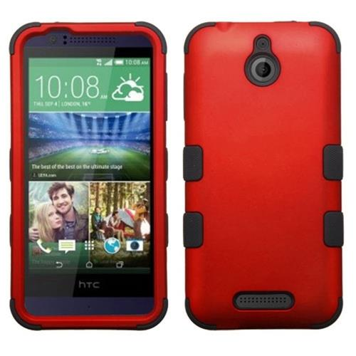 Insten Hard Dual Layer Rubber Silicone Case For HTC Desire 510, Red/Black